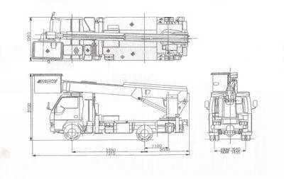 линейные размеры автовышки 21 метр