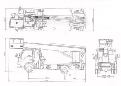 линейные размеры автовышки 22 метра